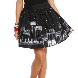 hot topic black skyline miniskirt
